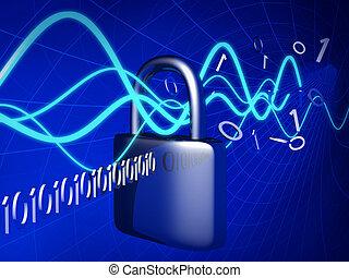 concept, technologie, sécurité, sécurité