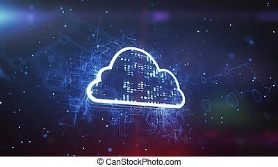 concept, technologie, systeem, wolk