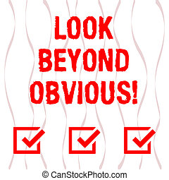 concept, tekst, photo., verdraaid, zien, strook, gebogen, achter, lint, onderwerp, model, seamless, vragen, meer, herhalen, verticaal, betekenis, blik, of, van belang zijn, deeply, handschrift, obvious., raamwerk