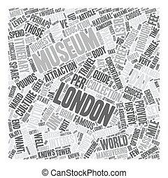 concept, tekst, reizen, dag, wordcloud, londen, achtergrond, gids, een, museum