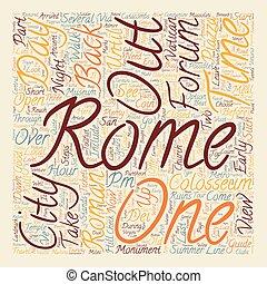 concept, tekst, uren, hoe, wordcloud, rome, achtergrond
