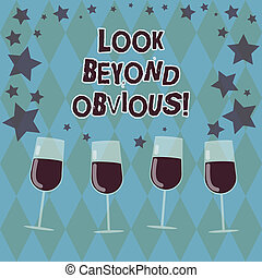 concept, tekst, verspreid, zien, achter, onderwerp, cocktail, deeply, schrijvende , vragen, sterretjes, bril, gevulde, obvious., zakelijk, confetti, stemware., woord, blik, van belang zijn, meer, of, wijntje