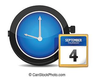 concept., tempo, calendario, orologio