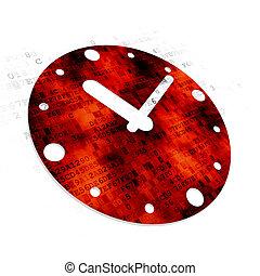concept:, tempo,  digital, fundo, relógio
