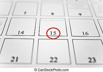 concept., temps, calendrier, mois
