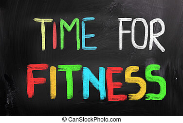 concept, temps, fitness