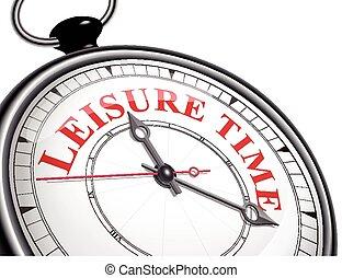 concept, temps, loisir, horloge