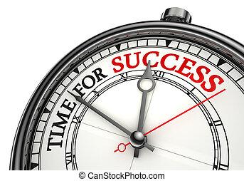 concept, temps, reussite, horloge