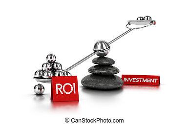 concept, terugkeren, investering