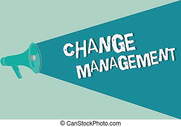 concept, texte, écriture, signification, direction, management., policies, organisation, nouveau, écriture, changement, remplacement