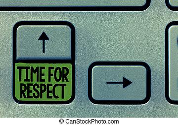 concept, texte, altitude, quand, écriture, montre, leur, signification, demander, everyone, temps, écriture, respect., vous