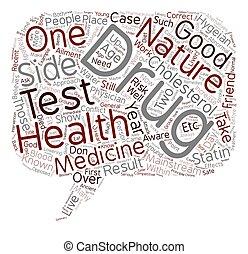 concept, texte, deux, wordcloud, fond, médecine, côtés