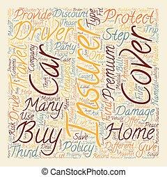 concept, texte, expliqué, wordcloud, fond, assurance