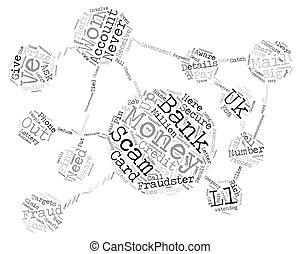 concept, texte, prendre garde, fraudsters, wordcloud, fraude, fond