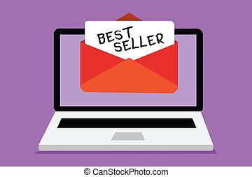 concept, texte, seller., papier, nombres, vend, virtual., mieux, écriture, autre, réception, email, produit, business, très, enveloppe, important, mot, message, grand, livre, informatique, ou