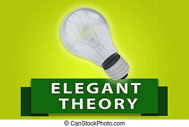concept, théorie, lumière, élégant, ampoule, bannière