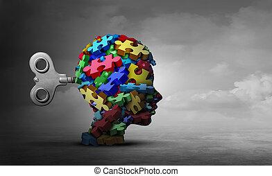 concept, thérapie, autism