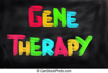 concept, thérapie, gène