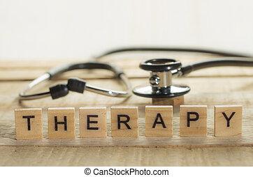 concept, thérapie, santé médicale, soin