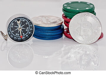 Concept : the crypto - currency- a temporary phenomenon , and the investment in them is risky as well as casino games