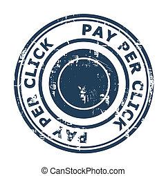 concept, timbre, payer, par, seo, déclic