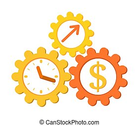 Concept Time is money. make money, income growth,