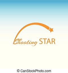concept, tir, logo, orange, étoile