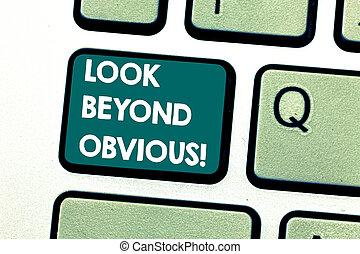 concept, toetsenpaneel, tekst, zien, dringend, toetsenbord, boodschap, achter, onderwerp, deeply, scheppen, intention, vragen, obvious., betekenis, klee, blik, idea., van belang zijn, computer, handschrift, meer, of