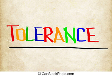 concept, tolérance
