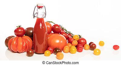 concept tomato juice or sauce