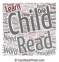 concept, ton, lire, texte, devez, wordcloud, fond, enfant, vous, pourquoi