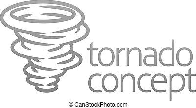 concept, tornade, ou, icône, cyclone, ouragan, twister