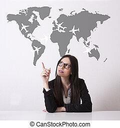 concept, tourisme, business