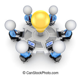 concept., trabajo en equipo