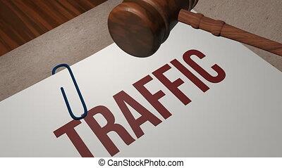 concept, trafic, légal