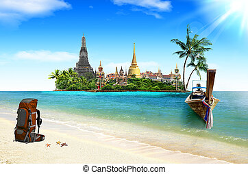 Concept travel Tropical beach
