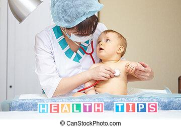 concept., treatment., santé, healthcare, bébé, pointes