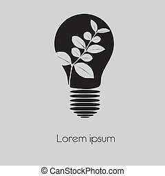 Concept tree in light bulb symbol o