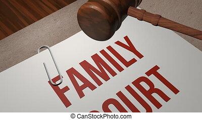concept, tribunal, famille, légal