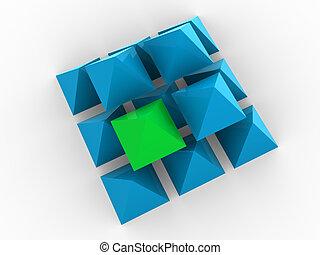 concept, tridimensionnel