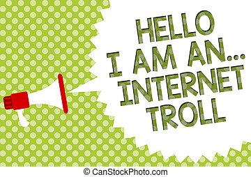 concept, troll., tekst, besprekingen, boodschap, luidspreker, media, problemen, schrijvende , halftone., toespraak, argumenten, internet, megafoon, bel, ..., zakelijk, achtergrond, woord, groene, sociaal, hallo
