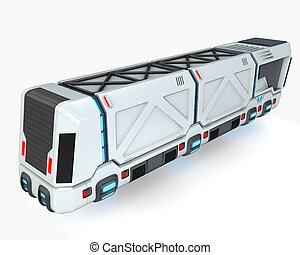 Concept truck of future transport system, 3d illustration