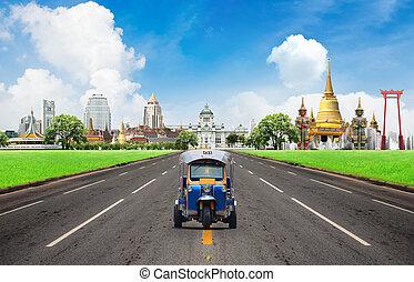 Concept, Tuk tuk for passenger cars To go sightseeing in...