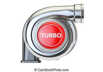 concept, turbo, 3d, rendre