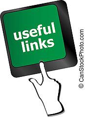 concept, utile, liens, business, bouton, -, clavier