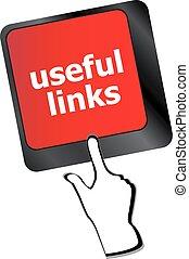 concept, utile, liens, business, bouton, -, vecteur, clavier