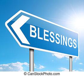 concept., välsignelser, underteckna