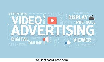 concept., vídeo, anunciando