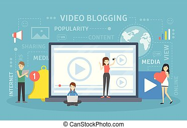 concept., vídeo, blogging