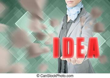 concept, van, idee